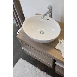 Pro Vasque à poser sans trou pour robinetterie, avec trop-plein, 520x390mm, Blanc (H8129640001091)