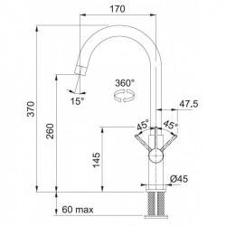 Sety Kit évier avec égouttoir réversible (BSG 611-62) en fragranite , Onyx + Mitigeur FP 0408.031, Chrome (114.0440.626)