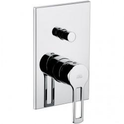 Ringo Mitigeur de douche encastré avec inverseur et 2 sorties, Chrome (RIN015)