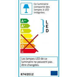 Romendo Applique murale LED 45cm, 3000K Blanc chaud (94653)