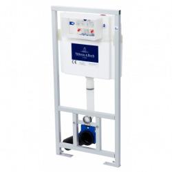 Pack WC Bâti-support + WC Swiss Aqua Technologies sans bride et fixations invisibles + Plaque chrome (ViConnectInfinitio-1)
