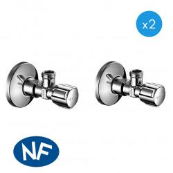 Comfort Lot de 2 robinets d'équerre avec fonction de régulation, Classe de débit A (052120699-PRO2)