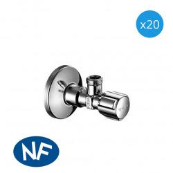 Comfort Lot de 20 robinets d'équerre avec fonction de régulation, Classe de débit A (052120699-PRO20)