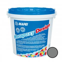 Kerapoxy Design Mortier époxy décoratif et antiacide, Gris foncé (MAPXDESIGN3728)