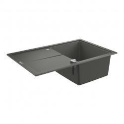 K400 Evier en composite avec égouttoir réversible 780x500 mm, Gris granite (31639AT0)