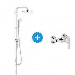 Tempesta System 210 Ensemble de douche avec mitigeur à levier et colonne de douche avec inverseur manuel (26381XXX)