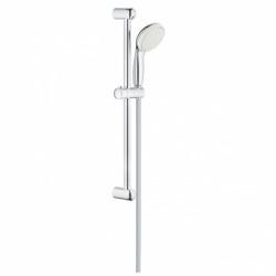 Eurosmart Set mitigeur douche + Barre de douche avec douchette 2 jets + Mitigeur lavabo taille M, Chrome (23327000 & 33555002)