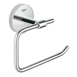 BauCosmopolitan Set d'accessoires avec Brosse WC murale + Dérouleur de papier en métal, Chrome (40463001-DUOESSENTIALS)