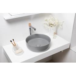 Vasque à poser Infinitio 39 x 39 x 12 cm sans trop-plein, gris mat (SATINF3939LGRM)