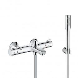 Set bain/douche Mitigeur thermostatique Grohtherm 800 + Douchette stick 1 jet Euphoria Cosmopolitan, Chrome (34569000)