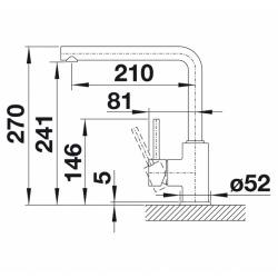Mitigeur d'évier MILA avec bras pivotant 360°, chromé (519414)