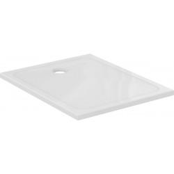 Design Receveur ultraplat 120x80 cm bonde à gauche, Blanc (J0228YK)