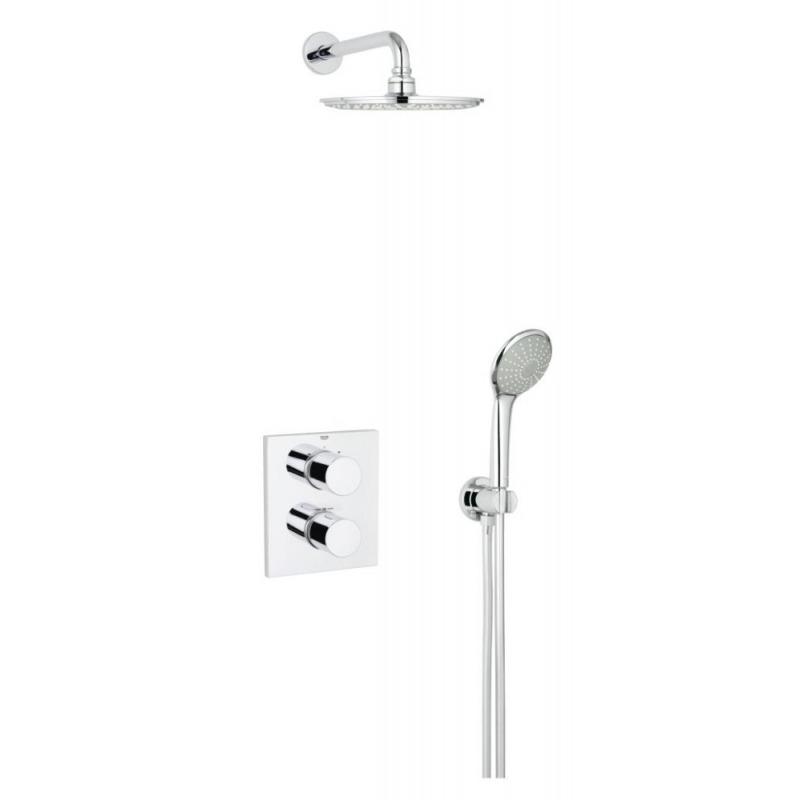 grohe grohtherm 3000 cosmopolitan ensemble de douche chrome 34408000 livea sanitaire sas. Black Bedroom Furniture Sets. Home Design Ideas