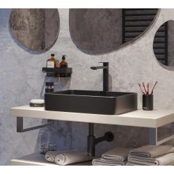 Infinitio Vasque à poser 50x40 cm, sans trop-plein, Noir mat (SATINF5040BKM)