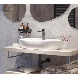 Infinitio Vasque à poser 60 x 40 x 12,5 cm, sans trop-plein, Blanc mat (SATINF6040M)
