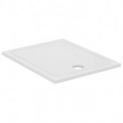 DESIGN Receveur à poser ou à encastrer ultraplat 100x80 cm, Antidérapant, En céramique, Blanc (J0230YK)