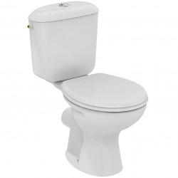 Astor Pack WC à poser en porcelaine vitrifiée, Charnières en Inox (R190101)
