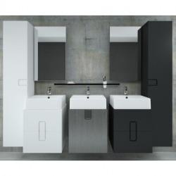 Twins Armoire latérale 180cm avec porte softclose, 6 étagères, Noir mat (88462000)