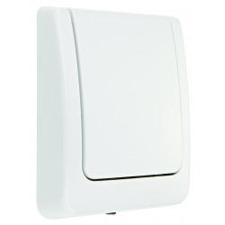 Plaque de commande WC- blanc
