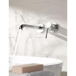 Essence - Façade de Mitigeur monocommande 2 trous lavabo Taille L chrome (19967001)