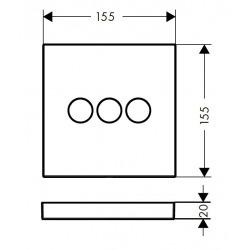 Set de finition Robinet d'arrêt ShowerSelect E pour 3 fonctions