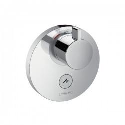 Set de finition pour mitigeur thermostatique ShowerSelect S encastré haut débit avec une sortie permanente et un robinet d'arrêt