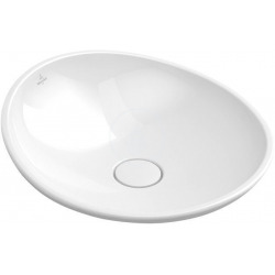 Vasque à poser Rond, diamètre 450 mm, avec Ceramicplus, blanc