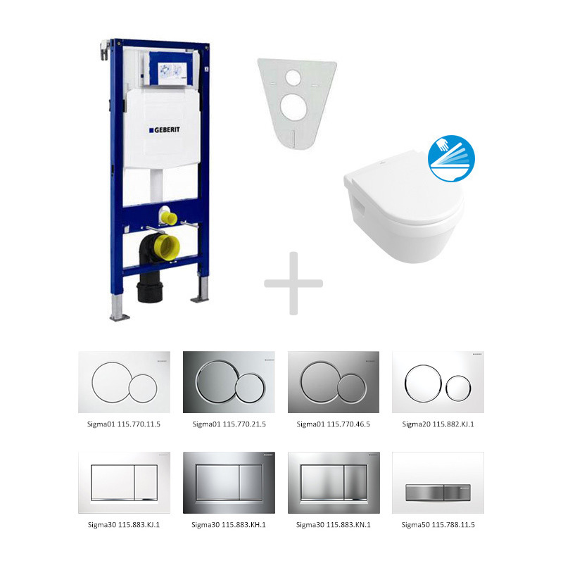 Pack wc geberit duofix cuvette villeroy boch softclose for Wc gain de place villeroy et boch