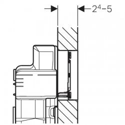 Sigma 60 chromé brossé (115.640.GH.1)