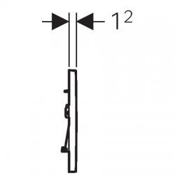 Plaque de déclenchement à double touche pour chasse d'eau Sigma 30, chromé brillant /mat /brillant (115.883.KH.1)