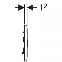 Sigma30 Plaque de déclenchement à double touche pour chasse d'eau (115.883.KM.1)