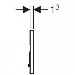 DUOFIX SIGMA 01 - Plaque de déclenchement WC chromé brillant (115.770.KA.5)