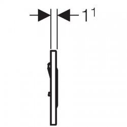 Plaque de commande urinoir à déclenchement pneumatique du rinçage type 10 (116.015.SN.1)