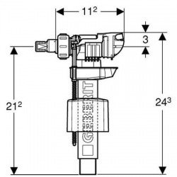 Robinet flotteur UNIFILL pour réservoir encastré (240.705.00.1)