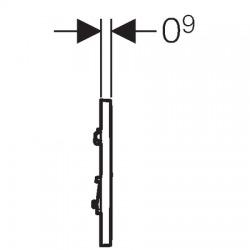HyTouch Plaque de commande urinoir à déclenchement pneumatique du rinçage type 30 (116.017.KH.1)