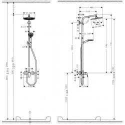 Set de douche Showerpipe Crometta S 240 1jet, mitigeur mécanique (27269000)
