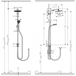 Set de douche Showerpipe Crometta S 240 1jet Reno EcoSmart (27270000)