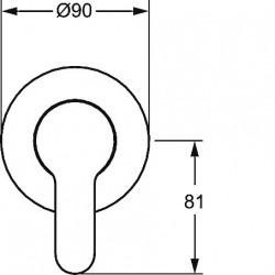 PRIMO Set de montage avec unité fonctionnelle Robinetterie de douche monocommande pour corps encastrable (49997003)