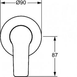 TWIST Set de montage avec unité fonctionnelle Robinetterie de douche monocommande pour corps encastrable (49777003)