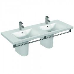 CONNECT Double lavabo 1300 x 490 x 170 mm blanc Ideal Plus (E8136MA)