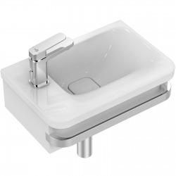 TONIC II Lave-mains asymétrique 45 x 31 cm, trop-plein caché, 1 trou à gauche. Couleur blanc IdealPlus  (K0875MA)