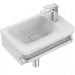 TONIC II Lave-mains asymétrique 45 x 31 cm, trop-plein caché, 1 trou à droite. Blanc IdealPlus (K0876MA)
