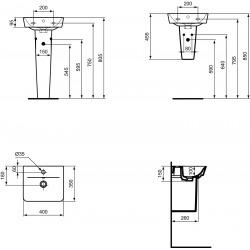 CONNECT AIR Lave-mains Cube 160 x 400 x 350 mm, blanc (E030701)