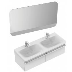 TONIC II Double lavabo trop-plein caché, 2 trous 215 x 490 x 170 mm, blanc IdealPlus (K0873MA)