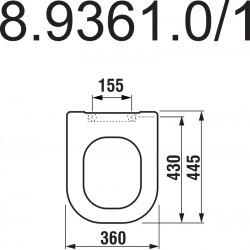 DEEP BY JIKA - Abattant pour cuvette Slowclose (H8934213000631)
