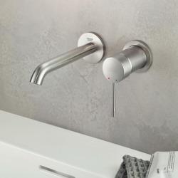 ESSENCE NEW - Façade de Mitigeur monocommande 2 trous lavabo Taille M SuperSteel (19408DC1)