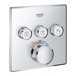 GROHE Grohtherm SmartControl Thermostat avec 3 robinets d'arrêt, 1 pièce, 29126000