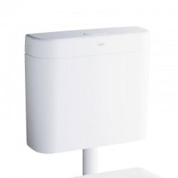 Splachovací WC nádržka, alpská bílá