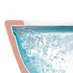 Závěsný klozet bez vnitřního okraje, 370 mm x 560 mm, bílý