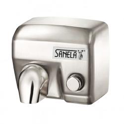 Sèche main avec bouton poussoir, fixation murale (SLO 02M)